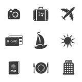 Podróży i turystyki ustalone ikony Fotografia Stock
