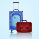 Podróży torba i walizka Obrazy Royalty Free