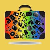 Podróży walizka - ilustracja Zdjęcie Stock