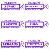 Podróż znaczki ilustracja wektor