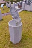 Podrównikowy sundial w nauka ogródzie w Busan, Korea Fotografia Royalty Free