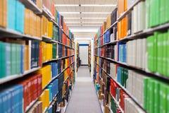 Podręczniki i edukacja - korytarz Obrazy Royalty Free