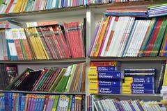 Podręczniki w bookstore Obrazy Royalty Free