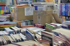 Podręczniki w bookstore Obrazy Stock