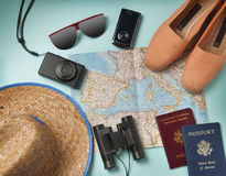 Podróż wakacje protestuje na tle Obraz Royalty Free