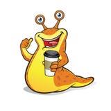 Podrożec z filiżanką kawy royalty ilustracja