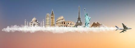 Podróżuje światowego pomnikowego pojęcie Obraz Royalty Free