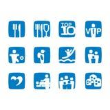 Podróży ikony Zdjęcie Royalty Free