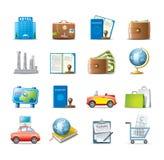 Podróży ikony set Zdjęcia Royalty Free