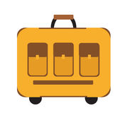 Podróży walizki ikony mieszkania styl Klasyk z rękojeścią Bagaż odizolowywający na białym tle również zwrócić corel ilustracji we Zdjęcia Stock