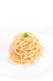 podrzucający nafciany oliwny prosty spaghetti Obraz Royalty Free