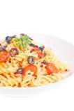 podrzucający nafciany oliwny prosty spaghetti Obraz Stock