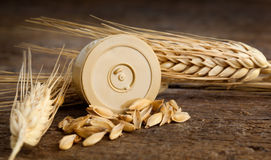 Pods of barley Royalty Free Stock Image