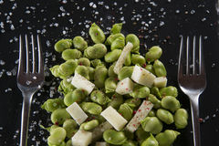 Pods with cheese Stock Images