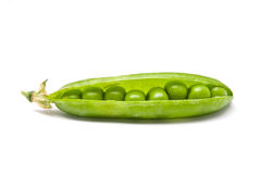 Pods of fresh green peas Stock Photo