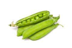 Pods of fresh green peas Stock Photo