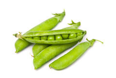 Pods of fresh green peas Royalty Free Stock Photo
