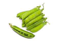 Pods of fresh green peas Stock Photography
