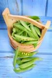Pods of fresh green peas Royalty Free Stock Photos