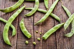 Pods of green beans Stock Photos