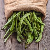 Pods of green beans Stock Photo