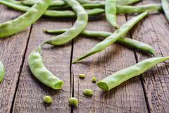 Pods of green beans Royalty Free Stock Images