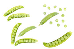 Pods of green peas Royalty Free Stock Photos