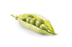 Pods of green peas Royalty Free Stock Images