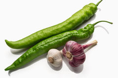 Pods of green pepper Stock Image