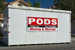 PODS Moving and Storage Cube Stock Image