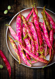 Pods of organic haricot Royalty Free Stock Images