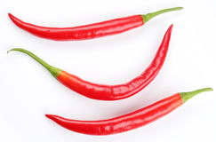 Pods spicy red chilli peppers Stock Photo