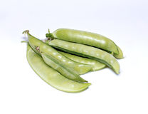 Pods of vegetable green peas Royalty Free Stock Photos