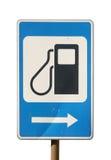 podsadzkowa benzyny znaka stacja zdjęcie stock
