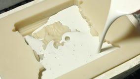 Podsadzkowa krzem foremka z ciekłym gipsem zbiory