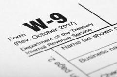 podsadzkowy formularzowy podatek Zdjęcie Stock