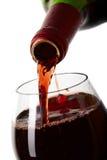 podsadzkowy szklany czerwone wino Obraz Royalty Free