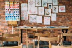 Podstępna pracowniana warsztatowa obraz klasy szkoła artystyczna zdjęcia stock