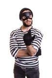 Podstępny kryminalny zapraszać z ręką zdjęcia stock