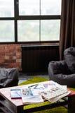 Podstępny workspace obrazu hobby studia rysunek obraz royalty free