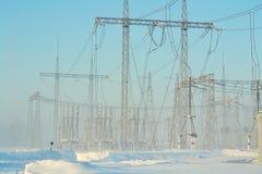 Podstacja energetyczna Zdjęcia Stock