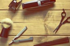 Podstaw narzędzia dla fryzjera męskiego Obrazy Royalty Free