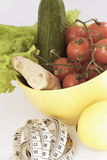 podstaw warzywa karmowi świezi zdrowi Obrazy Royalty Free