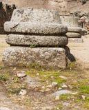 Podstawa Romańskie kolumny Zdjęcia Stock