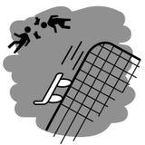 podstawki rolki wypadek ilustracji