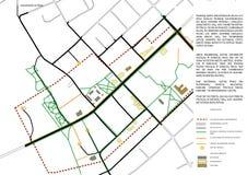 Podstawowa mapa, ruchu drogowego plan Obraz Stock