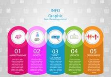 Podstawowa marketingowa infographics pojęcia wektoru ilustracja ilustracja wektor