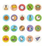 Podstawowe Barwione Wektorowe ikony 10 Zdjęcie Stock
