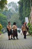 Podstawowe chłopiec i dziewczyna harcerz Dżakarta zdjęcie stock