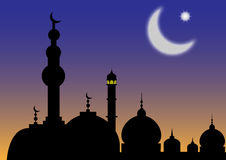 ISLAM. Vector illustration of Arabian nights Royalty Free Stock Photo